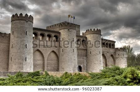 Aljaferia castle, Zaragoza, Spain. - stock photo