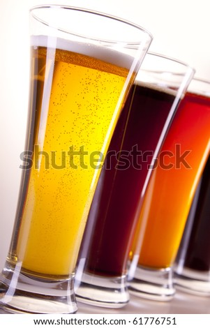 All colors of beer - stock photo