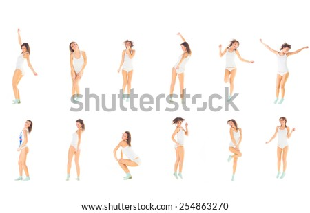 All Colors of Me Girl is Active  - stock photo