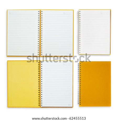 All detail orange notebook - stock photo