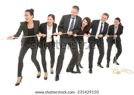 all pull together  - stock photo