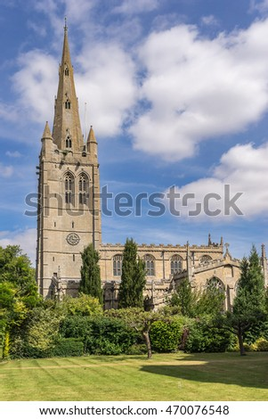 All Saints Church in Oakham in the county of Rutland