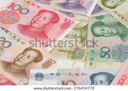 All Sorts of Chinese Banknotes and Coins