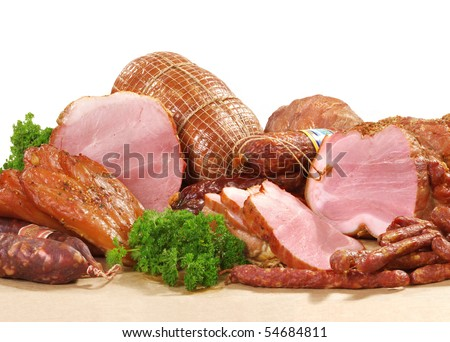 All sorts of meat - stock photo