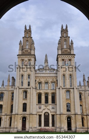 All Souls College at Oxford University, England - stock photo