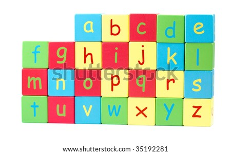 All the Letters of the Alphabet stacked on each other
