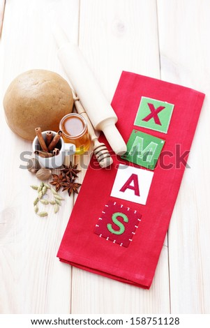 all you need to bake gingerbreads - sweet food - stock photo