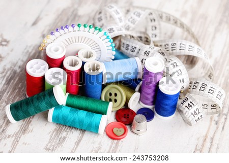 all you need to have fun - sewing tools - stock photo