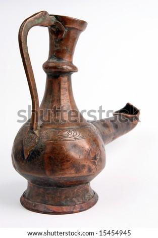 Alladin lamp, Antique form Baku. - stock photo