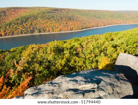 Allegheny National Forest hills and lake