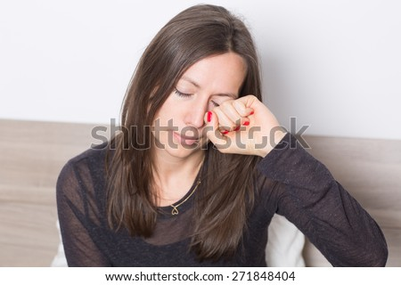 allergy sufferer  - stock photo