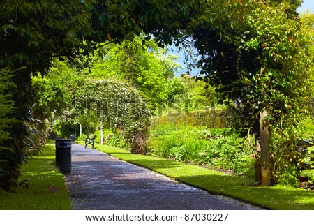 Alley in Belfast Botanic Gardens, Northern Ireland - stock photo