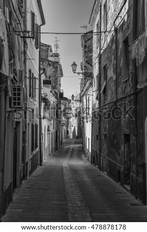 Alley in old italian city