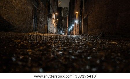 Alley in Seattle, Wa - stock photo