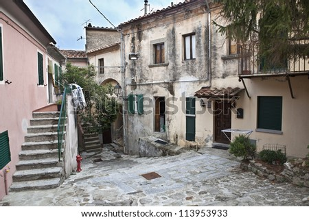 Alley in the historic village of Marciana, island of Elba