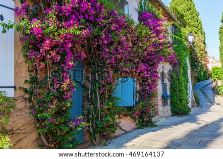 alley in the picturesque Provencal village Grimaud, France