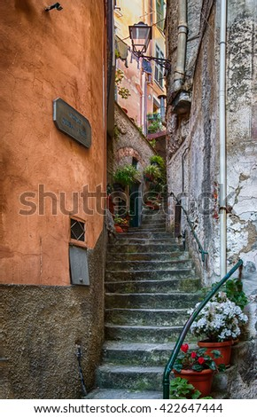 Alley Way in Florence Italy - stock photo