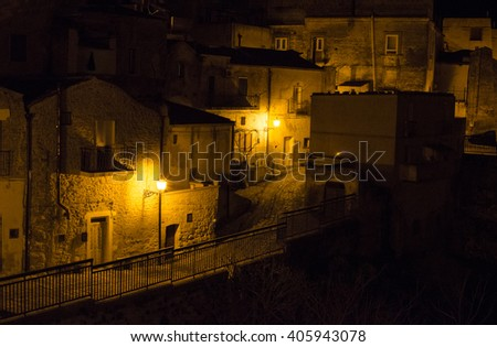alleys and streets of Italy from north to south a country to discover - stock photo