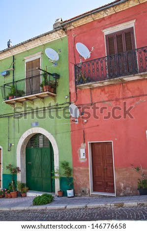Alleyway. Alberona. Puglia. Italy. - stock photo