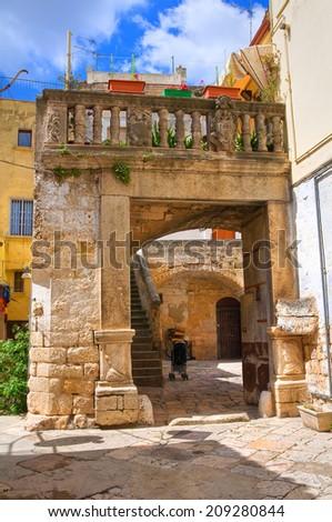 Alleyway. Altamura. Puglia. Italy. - stock photo
