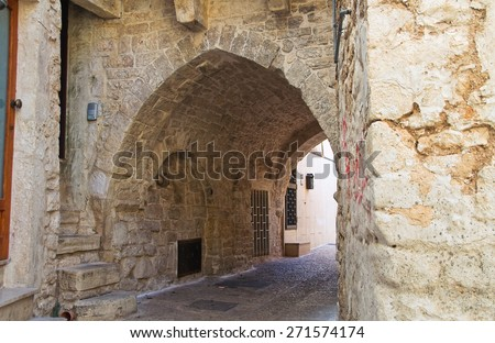 Alleyway. Bitritto. Puglia. Italy. - stock photo