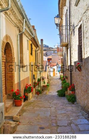 Alleyway. Cancellara. Basilicata. Italy. - stock photo