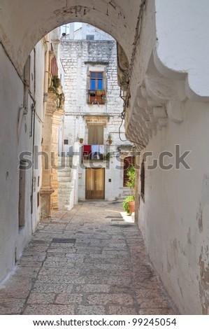 Alleyway. Cisternino. Puglia. Italy. - stock photo