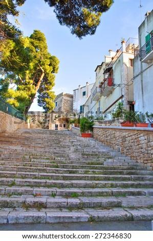 Alleyway. Conversano. Puglia. Italy. - stock photo