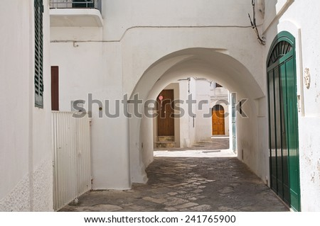 Alleyway. Fasano. Puglia. Italy.  - stock photo