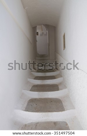 Alleyway. Laterza. Puglia. Italy.  - stock photo