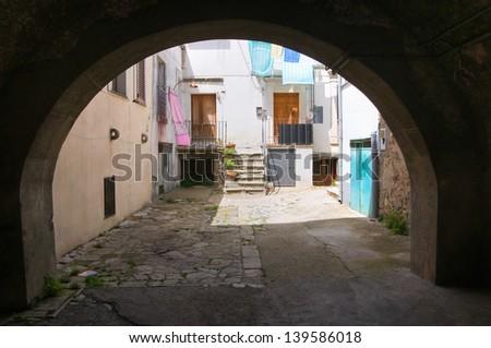 Alleyway. Melfi. Basilicata. Italy. - stock photo