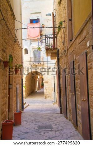 Alleyway. Molfetta. Puglia. Italy.  - stock photo