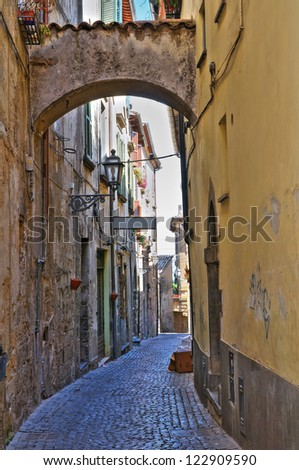 Alleyway. Orvieto. Umbria. Italy. - stock photo