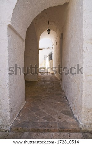 Alleyway. Specchia. Puglia. Italy.  - stock photo