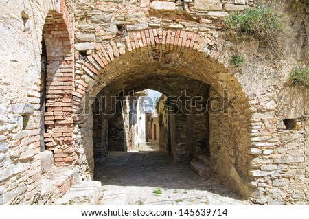 Alleyway. Tursi. Basilicata. Italy.  - stock photo