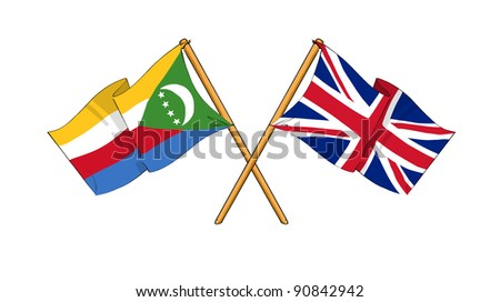 Alliance and friendship between Comoros and United Kingdom - stock photo