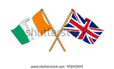 Alliance and friendship between Ivory Coast and United Kingdom - stock photo