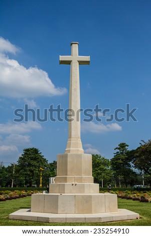Allied War Cemetery, Kanchanaburi Thailand - stock photo