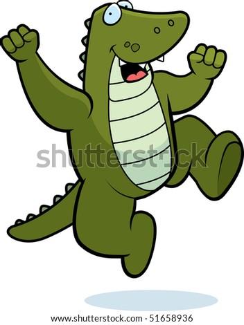 Alligator Jumping - stock photo