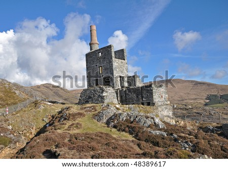 allihies chimney - stock photo
