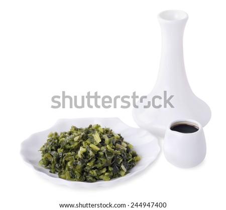 Allium ursinum - tasty appetizer. Isolated on white background - stock photo