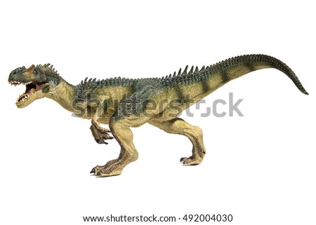 Allosaur on white background