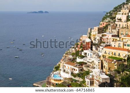 Almafi Coast in summer - stock photo