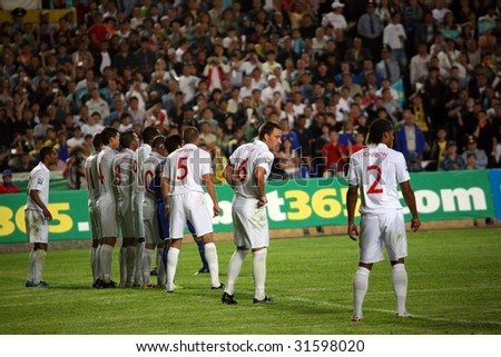 ALMATY - JUNE 6: Footballer Johnson participates Kazakhstan v England, FIFA World Cup European Qualifying, Group Six, 6th June 2009 - stock photo