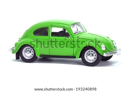 Almaty, Kazakhstan - February 15, 2014: Collectible toy model car Volkswagen Beetle.