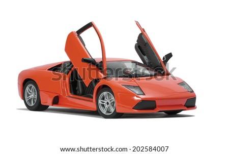 Almaty, Kazakhstan - June 17, 2014: Collectible Toy Model Lamborghini  Murcielago LP640 On V