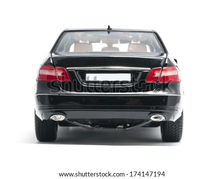 ALMATY, KAZAKHSTAN - OCTOBER 29, 2013 - Collectible toy Mercedes-Benz E-Class E350 Sedan isolated on white background - stock photo