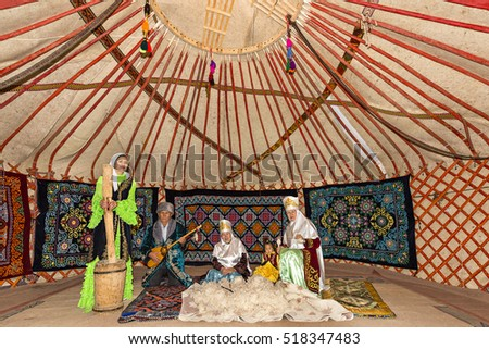 ALMATY KAZAKHSTAN - SEPTEMBER 3 2016 Kazakh people in traditional costumes in a & Nomad Tent Stock Images Royalty-Free Images u0026 Vectors | Shutterstock