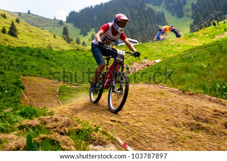 ALMATY, KAZAKSTAN - MAY 26: N.Janzakov (N23) in action at Freestyle Bike Session in Almaty, Kazakstan MAY 26, 2012.