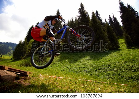 ALMATY, KAZAKSTAN - MAY 26: S.Mazalevsky (N51) in action at Freestyle Bike Session in Almaty, Kazakstan MAY 26, 2012.